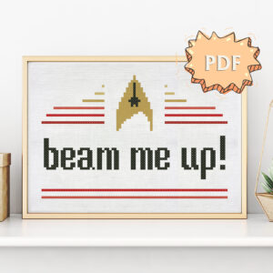 Beam me up - Star Trek inspired modern cross stitch pattern
