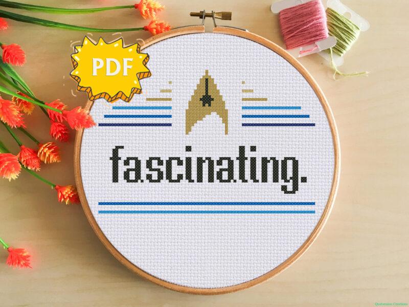 Fascinating modern crossstitch pattern - Star Trek TOS inspired cross stitch design