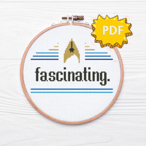Fascinating modern crossstitch pattern - Star Trek TOS inspired cross stitch design