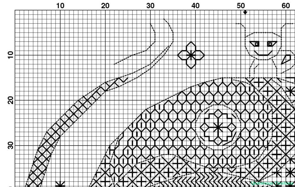 Magic Mushroom - modern blackwork pattern - unique stitching design