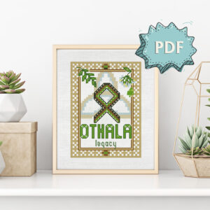 Othala Rune cross stitch pattern