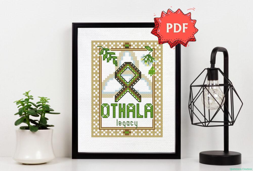Othala Rune cross stitch pattern