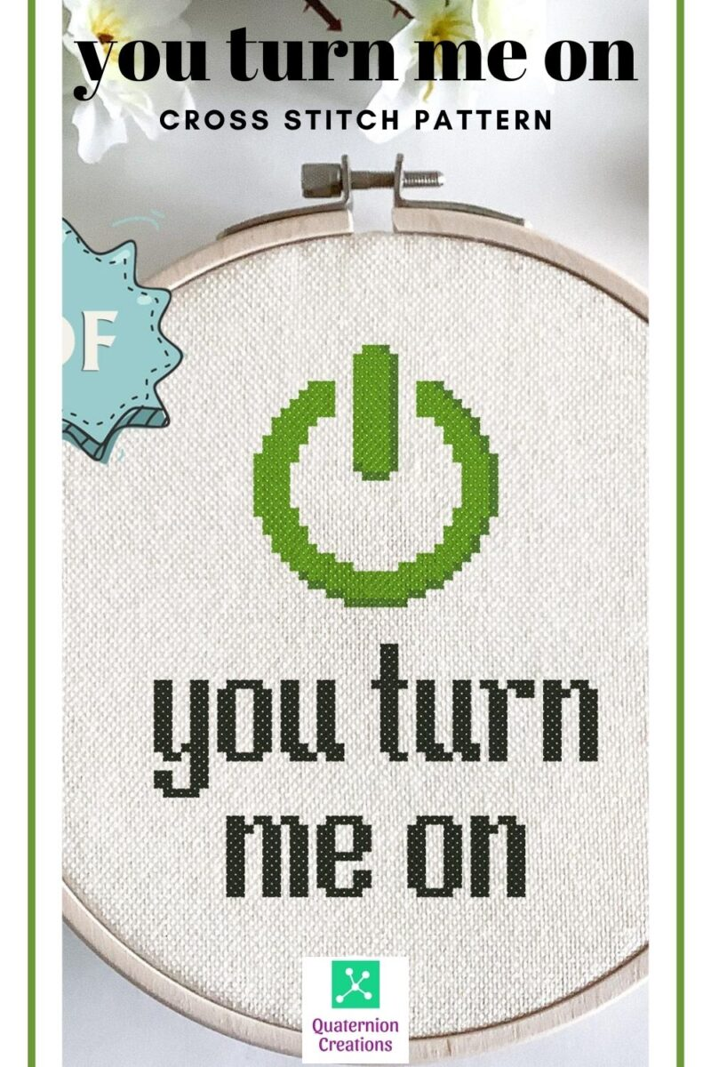You turn me on - a beginner-friendly cross stitch pattern