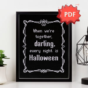 Every night is Halloween cross stitch pattern