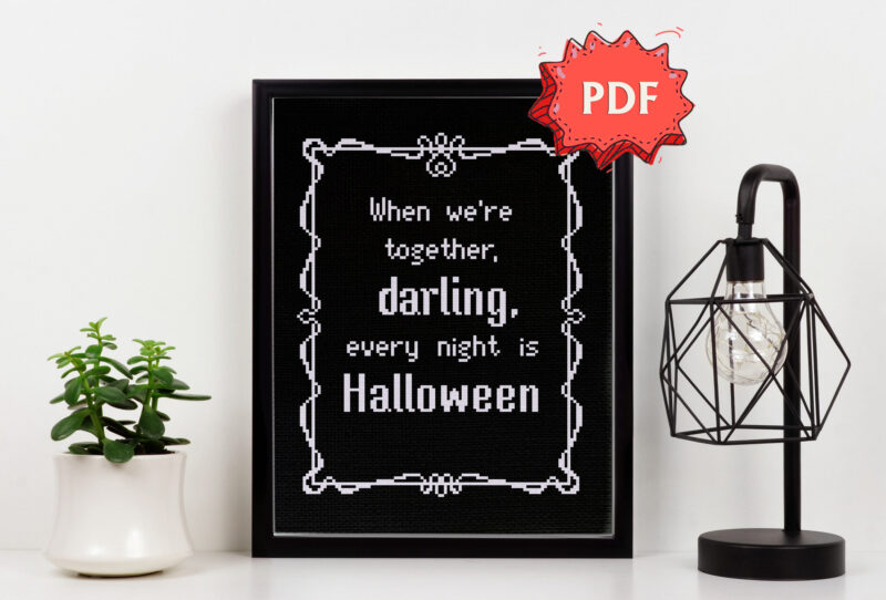 Every night is Halloween cross stitch pattern