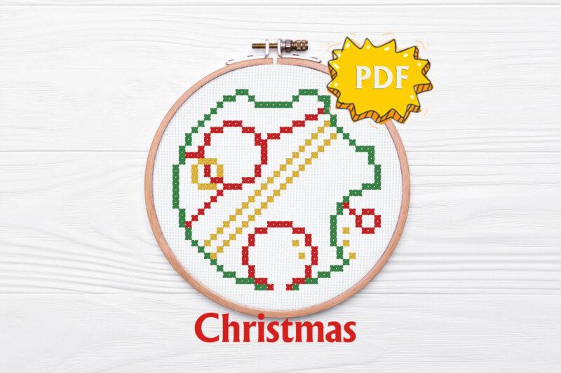 Gallifreyan Christmas cross stitch bundle - set of four ornaments in circular gallifreyan language - Love, Joy, Noel, Christmas