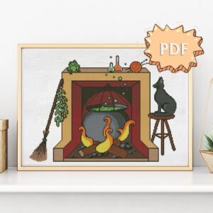 Witches' Kitchen cross stitch pattern