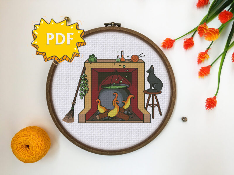 Witches' Kitchen cross stitch pattern