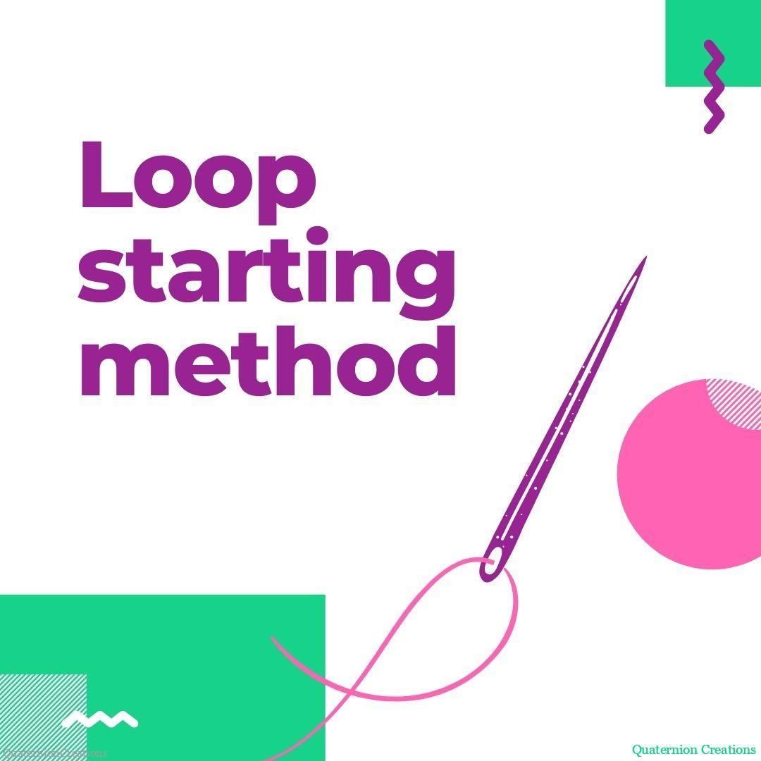 Loop starting method for cross stitching