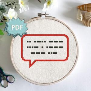 I love you in Morse code - cross stitch pattern