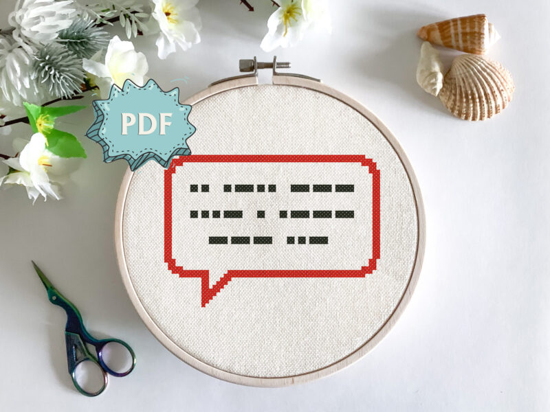I love you in Morse code - cross stitch pattern