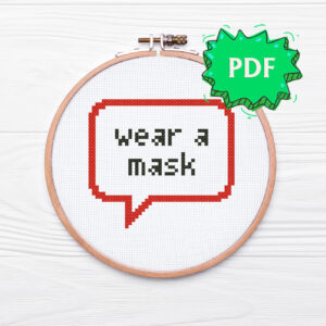 Wear a mask free cross stitch pattern