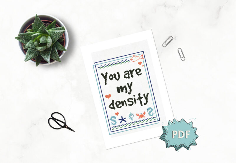 You are my density cross stitch pattern