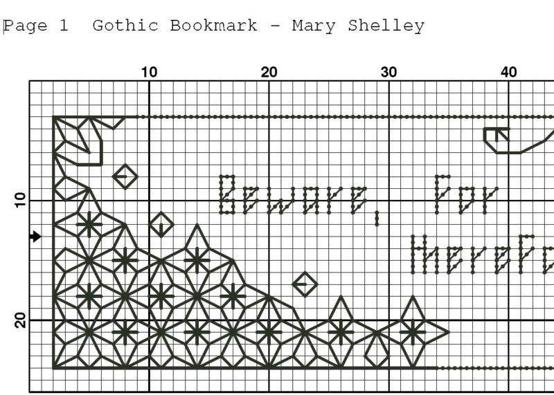 Set of 4 - Blackwork embroidery pattern - Gothic bookmarks modern embroidery design - great Gothic quotes