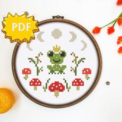 Princess Frog cross stitch pattern