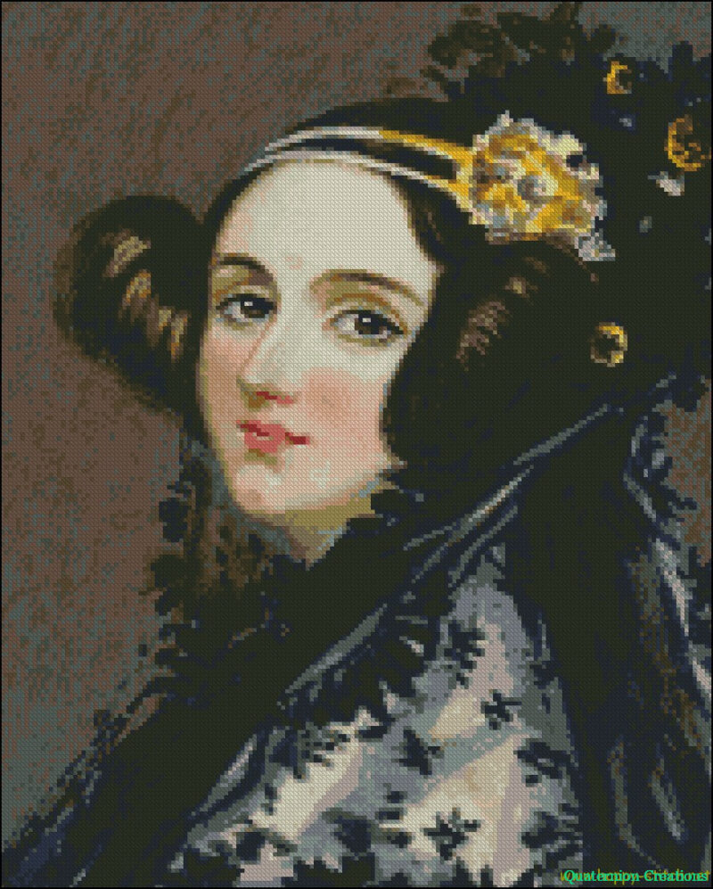 Ada Lovelace cross stitch pattern